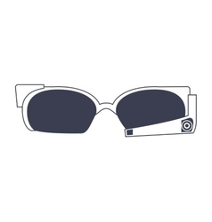high technology glasses icon vector image vector image