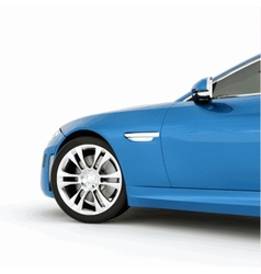 Very fast sport blue car vector image