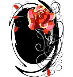 A checked rose vector
