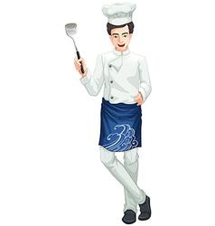 A male chef vector