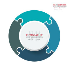 Abstract element infographics 4 option design vector