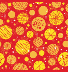Abstract red yellow hand drawn christmass vector