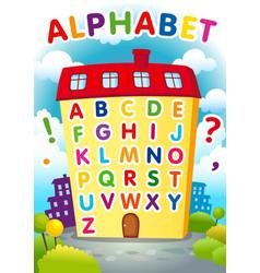 Alphabet house vector