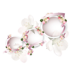 apple blossoms with ribbons vector image