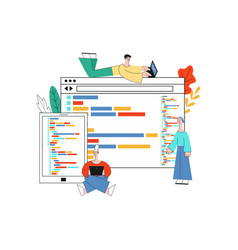 application development with vector image