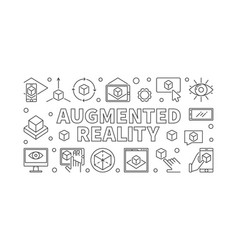 augmented reality horizontal vector image
