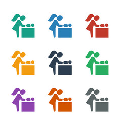 Baby changing room icon white background vector