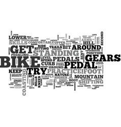beginner mountain bike skills text word cloud vector image