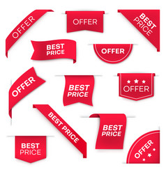 best price tag banners or labels set vector image