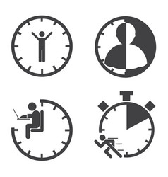 Business icons time management concept vector