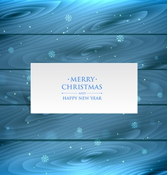 christmas snowflakes in wood vector image