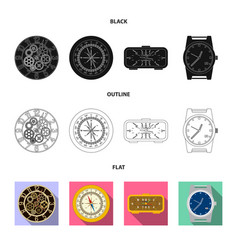 clock and time icon vector image