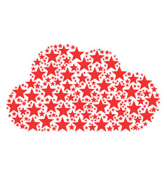 Cloud collage of five-pointed star icons vector