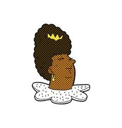 Comic cartoon queens head vector
