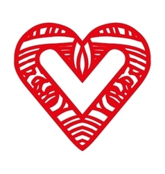 Embellished heart cartoon icon image vector