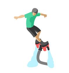 extreme sport flyboard summer action splash active vector image