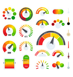 feedback or rating scale representing various vector image