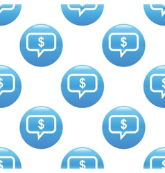 Financial message sign pattern vector image