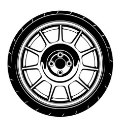 Flat car wheel 4 vector