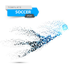 fottball dot on the white background vector image