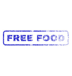 free food rubber stamp vector image