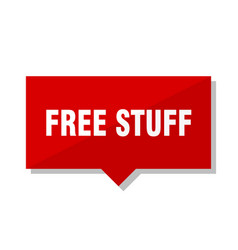 Free stuff red tag vector