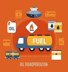 fuel pump colored composition vector image