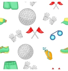 Game of golf pattern cartoon style vector