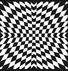 geometric checkered pattern black and white vector image