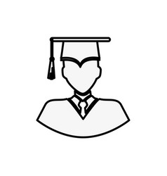 Graduate man icon vector