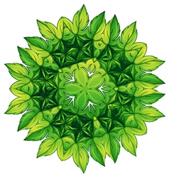 Green leafy border design vector