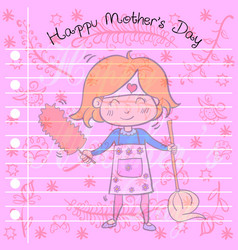 greeting card of mother day style vector image