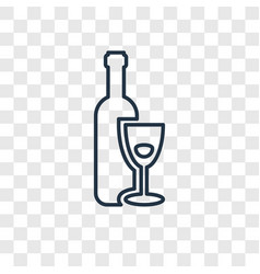 Hebrew wine concept linear icon isolated on vector