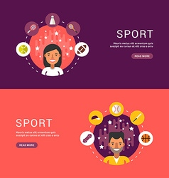 in Flat Design Style Sport Icons and Sportsman vector image