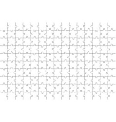 jigsaw puzzle 15x10 square piece template vector image
