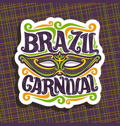 Logo for brazil carnival vector