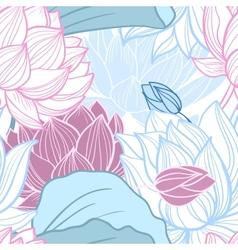 lotus seamless pattern vector image