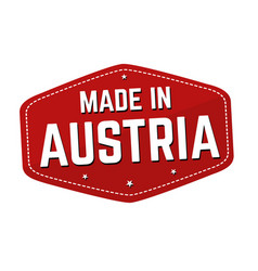 Made in austria label or sticker vector