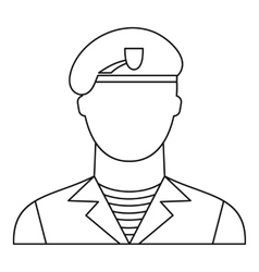 Modern army soldier icon outline style vector