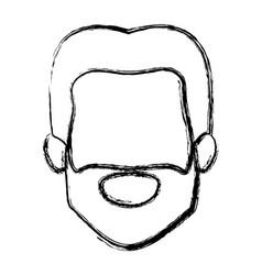 Monochrome blurred silhouette of male faceless vector