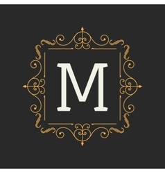 Monogram design elements template Letter Vintage vector image
