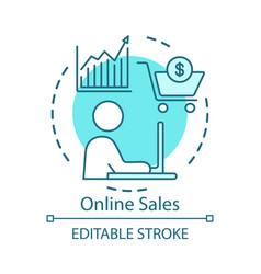 Online sales concept icon digital marketing idea vector