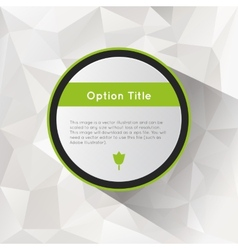 Options with polygonal background vector image