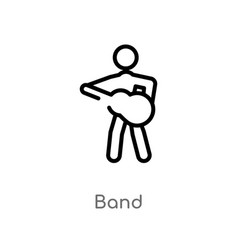 Outline band icon isolated black simple line vector