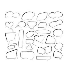outline speech bubbles set doodle speech balloon vector image