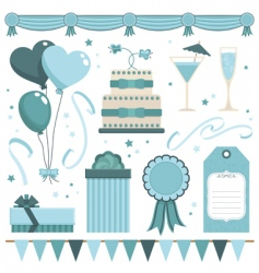 party objects vector image