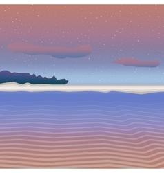 Pastel sea landscape vector