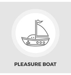 Pleasure Boat Icon vector image
