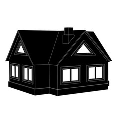 private cottage black icon vector image
