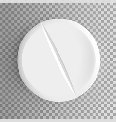 realistic pill isolated vector image